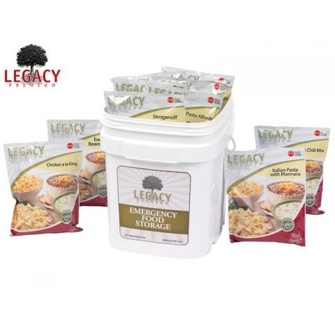 Legacy 60 serving breakfast lunch dinner bucket